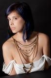Frau mit Halsketten Lizenzfreie Stockfotos