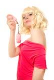 Frau mit Handschellen Lizenzfreie Stockfotografie