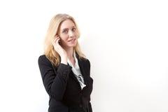 Frau mit Handy Stockfoto