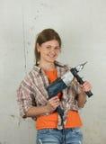 Frau mit Hilfsmittel Lizenzfreie Stockbilder