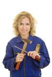 Frau mit Hilfsmitteln Lizenzfreies Stockfoto