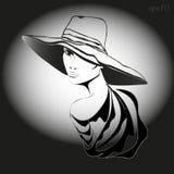 Frau mit Hut Stockfoto