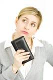 Frau mit ihrem Fonds Stockfotografie