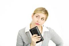 Frau mit ihrem Fonds Stockfotos