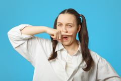 Frau mit Kälte Lizenzfreie Stockfotos