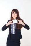 Frau mit Karte Lizenzfreies Stockbild