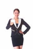Frau mit Karte Lizenzfreie Stockfotografie