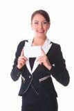 Frau mit Karte Stockfoto