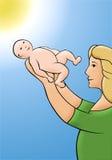 Frau mit Kind Lizenzfreie Stockbilder