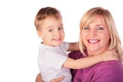 Frau mit Kind stellt Nahaufnahme 4 gegenüber Lizenzfreie Stockbilder