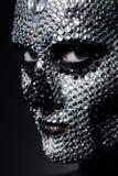 Frau mit Konzeptbergkristallmake-up Lizenzfreie Stockbilder