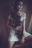 Frau mit kreativem Antlitz, weiches Licht Lizenzfreies Stockbild
