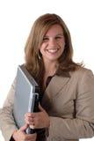 Frau mit Laptop Lizenzfreies Stockfoto