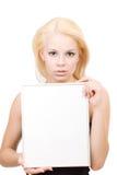 Frau mit Leerzeichen Stockfotos