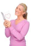 Frau mit Liebesbrief Lizenzfreies Stockfoto