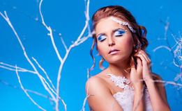 Frau mit Make-up Lizenzfreies Stockbild