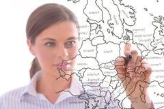 Frau mit Markierung Lizenzfreie Stockfotos