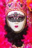 Frau mit Maske am venetianischen Karneval Lizenzfreie Stockbilder