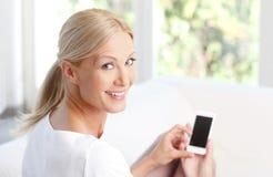 Frau mit Mobile Stockbilder