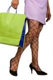 Frau mit Nettostrümpfen Lizenzfreie Stockfotos