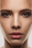 Frau mit perfekter Haut Stockfotos