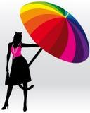 Frau mit Regenschirm Lizenzfreie Stockfotografie