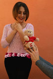 Frau mit Rosen Lizenzfreies Stockfoto