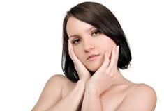 Frau mit sauberer Haut Lizenzfreie Stockfotos