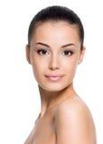 Frau mit schönem Gesicht Lizenzfreies Stockfoto