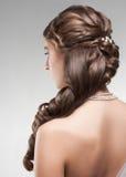 Frau mit schöner Frisur Stockfoto