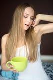 Frau mit Schale lizenzfreies stockfoto