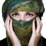 Frau mit Schleier Lizenzfreies Stockfoto