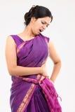 Frau mit Schmerz in der Rückseite Lizenzfreie Stockfotos