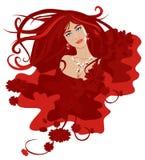 Frau mit sich entwickelndem Haar 1 Stockbilder