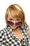 Frau mit Sonnenbrillen Stockbild