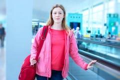 Frau mit Tasche Lizenzfreie Stockfotos