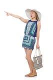 Frau mit Tasche Lizenzfreie Stockbilder