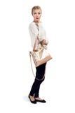 Frau mit Tasche Lizenzfreies Stockbild