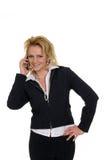 Frau mit Telefon Lizenzfreie Stockfotografie