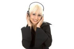 Frau mit Telefonen Lizenzfreies Stockfoto