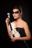 Frau mit Violine Stockbild