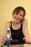 Frau mit Wasser Stockbilder
