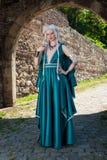 Frau in mittelalterliche Zeiten Stockfotografie