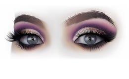 Frau mustert Mode-Make-up vektor abbildung