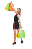 Frau nach shopping spree Lizenzfreies Stockfoto