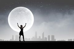 Frau nachts Lizenzfreie Stockfotografie