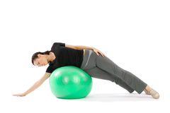 Frau Practing Pilates Stockfotografie