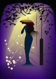 Frau-in-Regen Trugbild Stockbilder