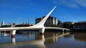 Frau ` s Brücke Puerto Madero, Argentinien lizenzfreies stockfoto