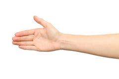 Frau ` s Hand, die bereit ist, ein Abkommen zu machen Lizenzfreie Stockfotografie